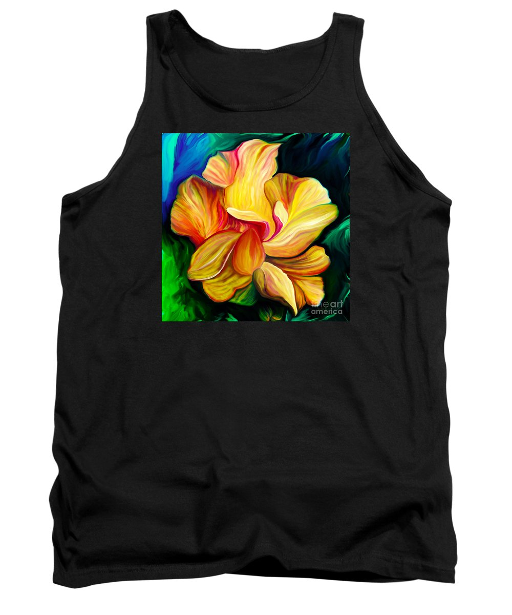 Hibiscus Painting Tank Top featuring the painting Emergence II by Patricia Griffin Brett