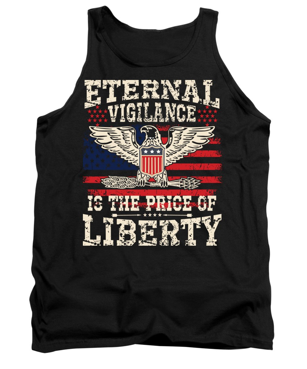 Thank You Tank Top featuring the digital art Eternal Vigilance Is The Price of Liberty by Jacob Zelazny