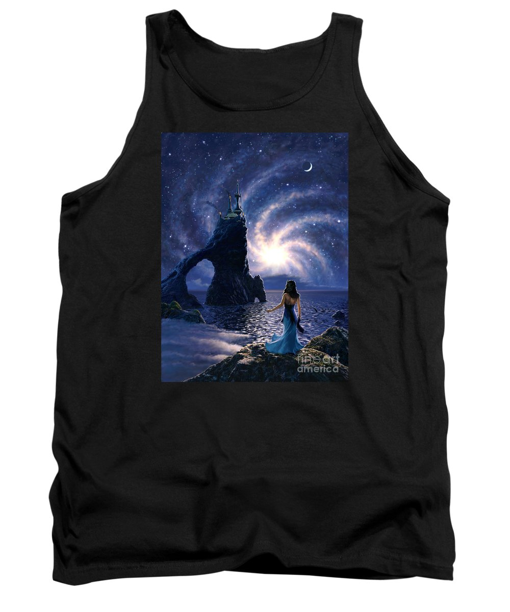 Space Tank Top featuring the painting Far Synura by Stu Shepherd