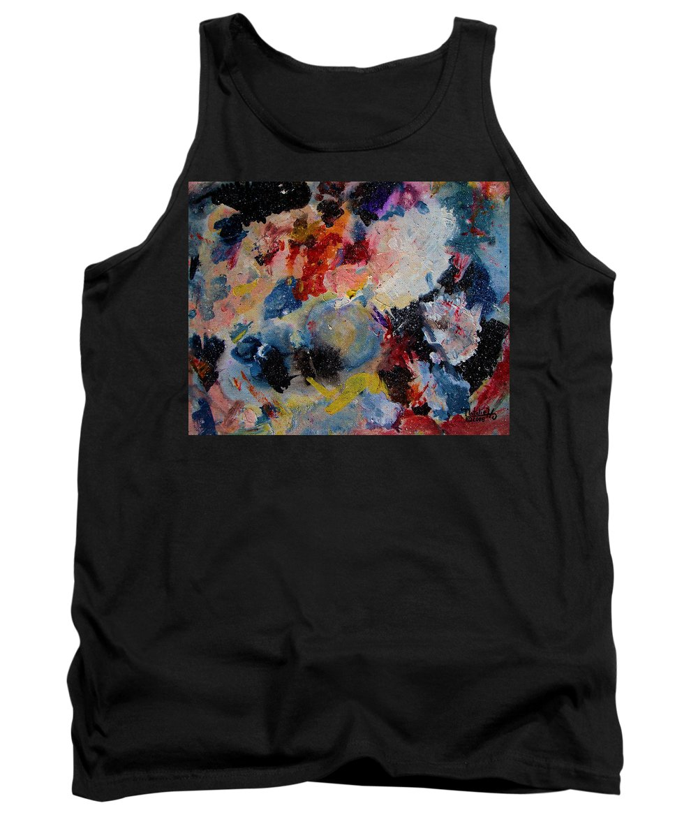 Abstract Tank Top featuring the painting Freedom by Natalie Holland