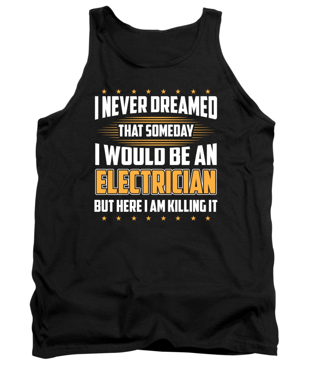 Gift Tank Top featuring the digital art Funny Electrician Lineman Gift by J M