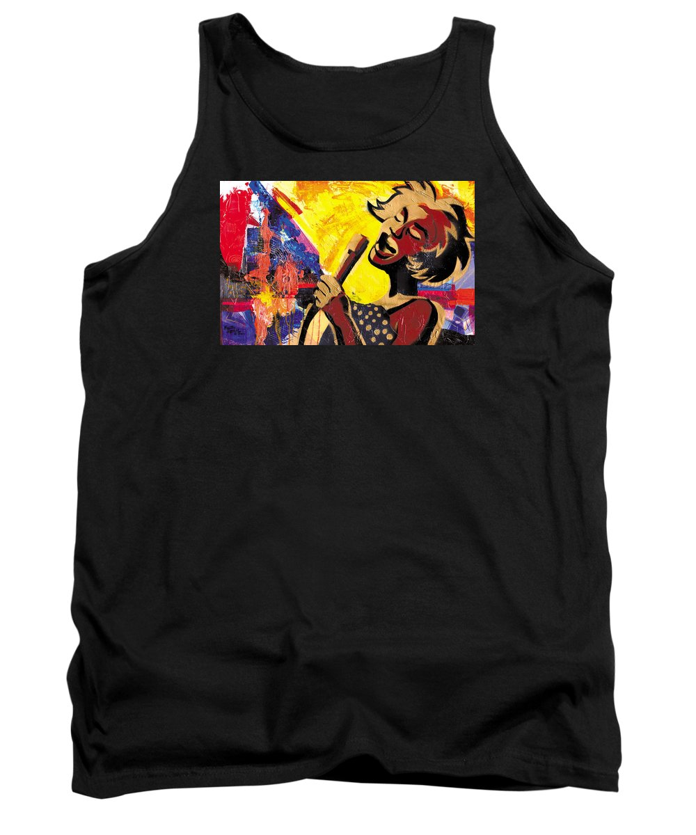 Everett Spruill Tank Top featuring the painting I Sings Da Blues by Everett Spruill