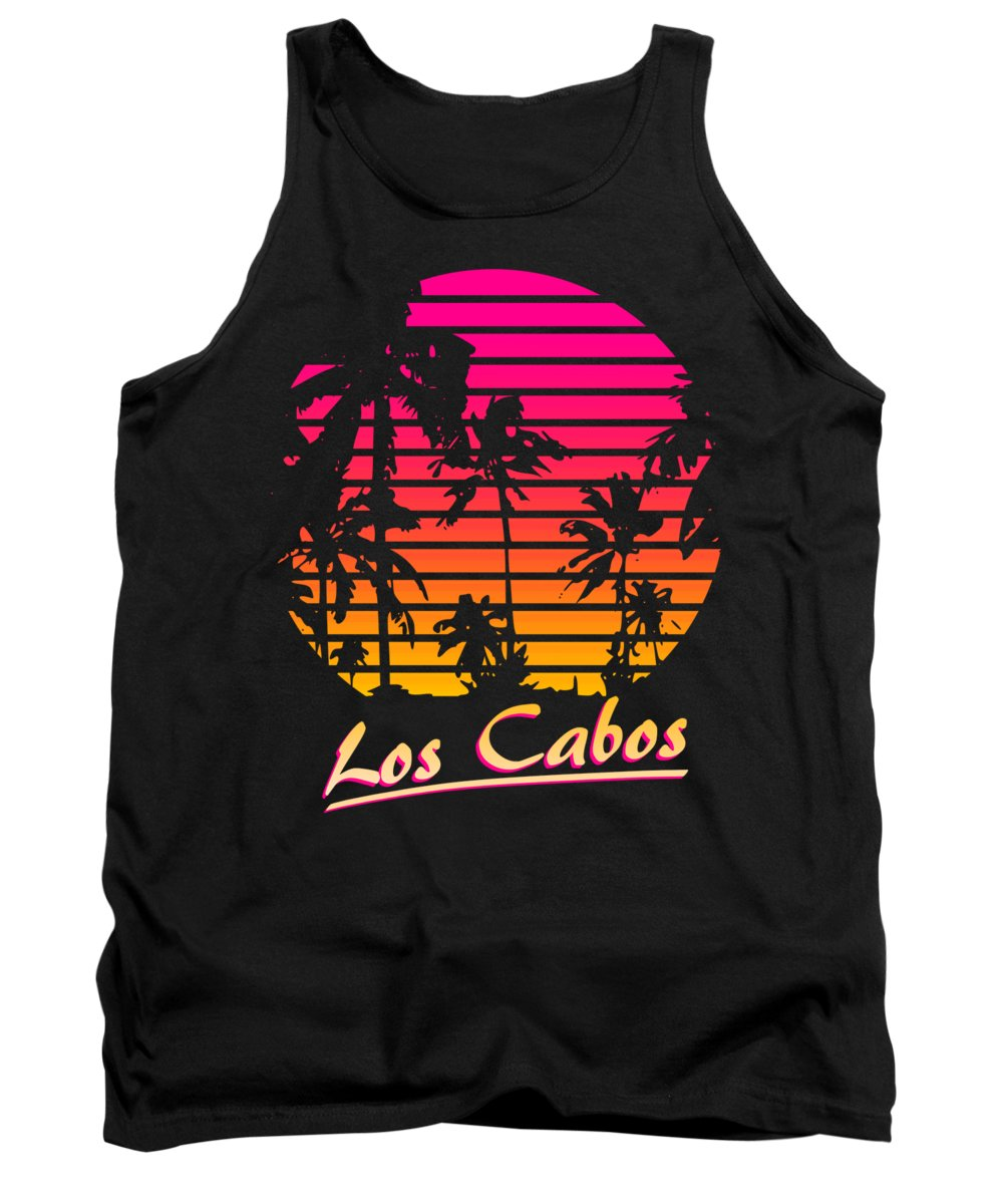 Classic Tank Top featuring the digital art Los Cabos by Filip Schpindel