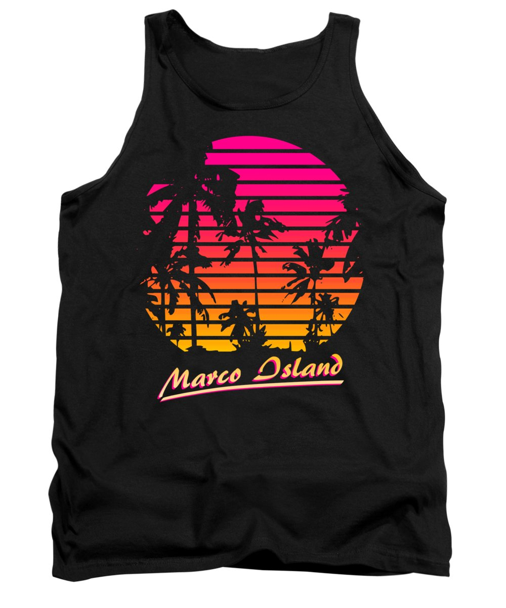 Classic Tank Top featuring the digital art Marco Island by Filip Schpindel