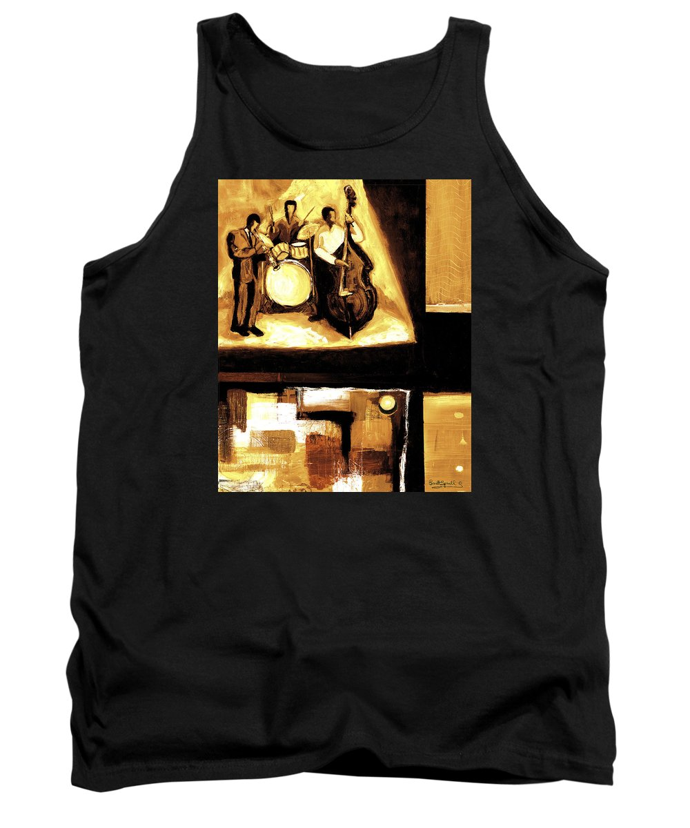 Everett Spruill Tank Top featuring the painting Modern Jazz Number Two by Everett Spruill
