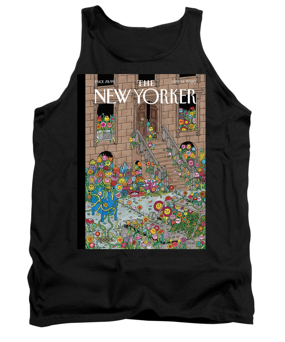 New York Tank Top featuring the painting Overgrown by Edward Steed