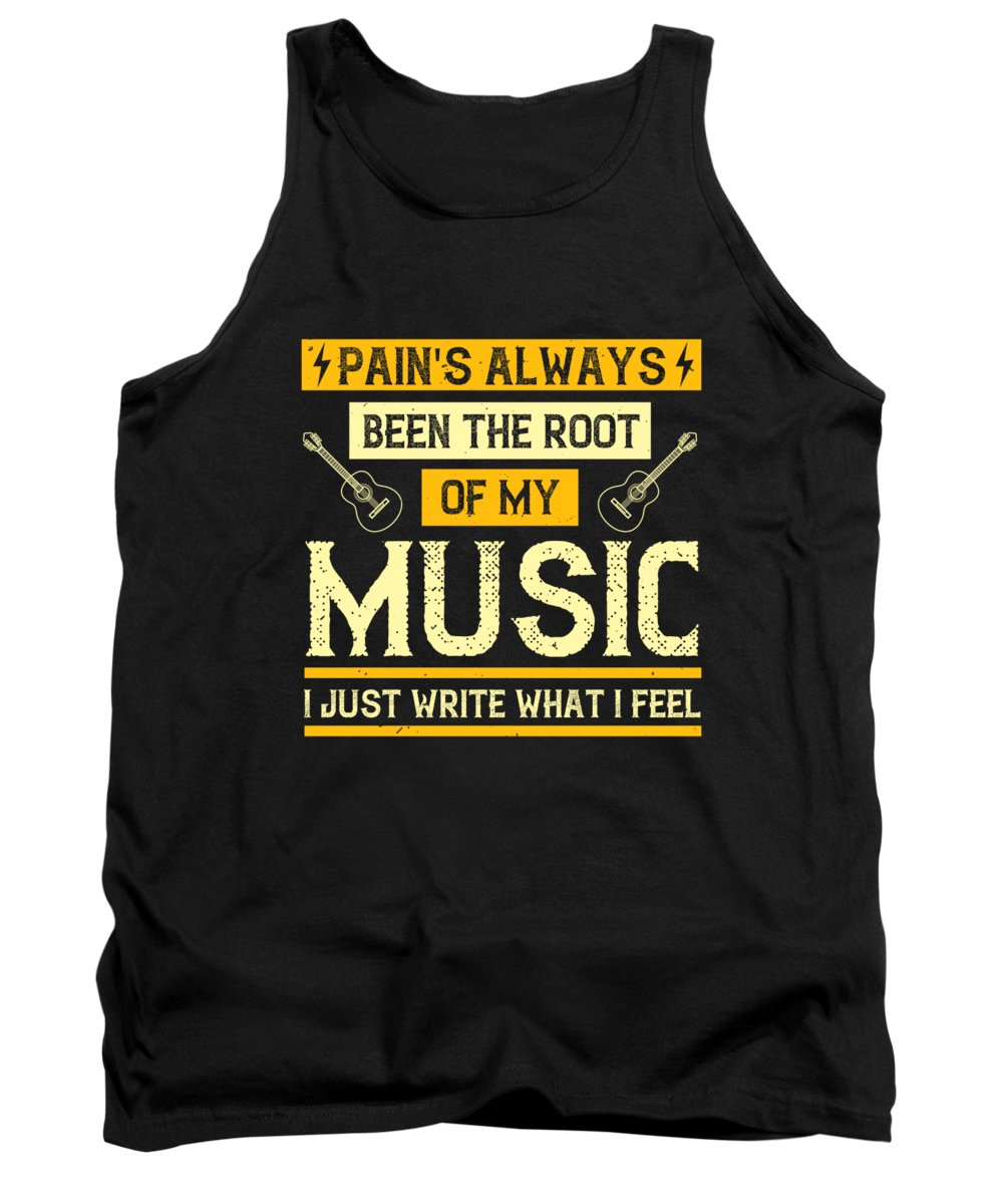 Lover Tank Top featuring the digital art Pains always been the root of my music I just write what I feel by Jacob Zelazny