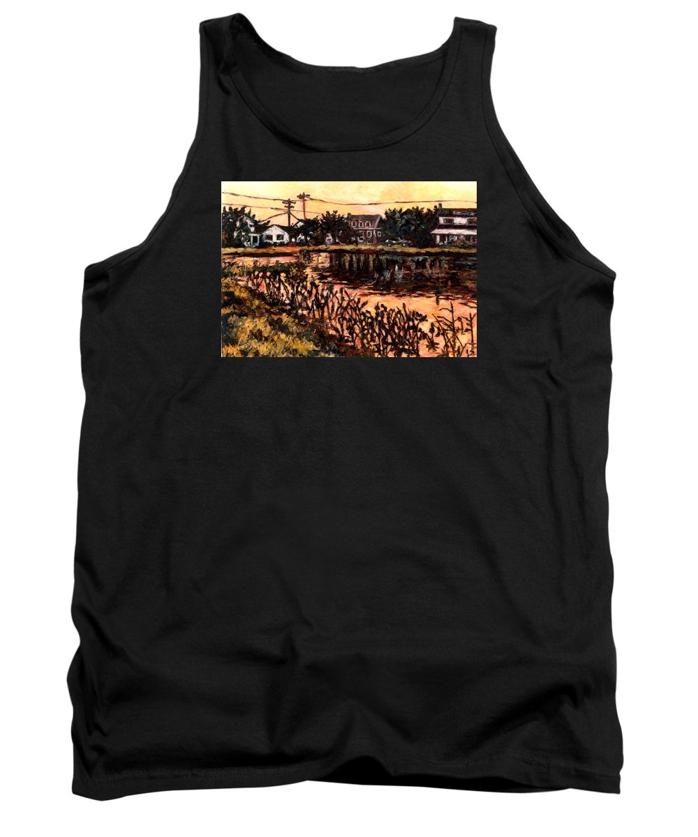 Landscape Tank Top featuring the painting Silver Lake at Rehoboth Beach by Kendall Kessler