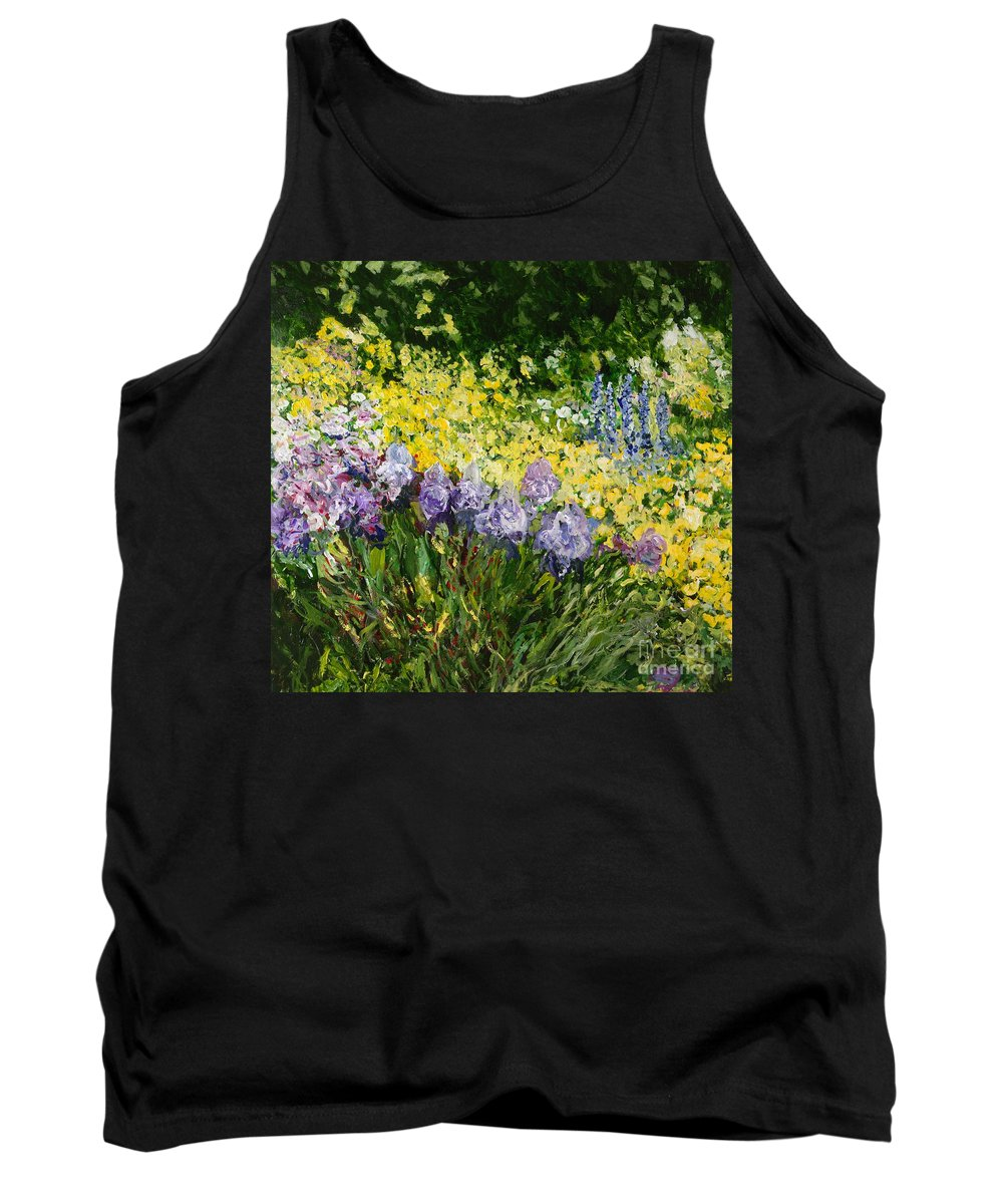 Landscape Tank Top featuring the painting Sunshine Blossoms by Allan P Friedlander