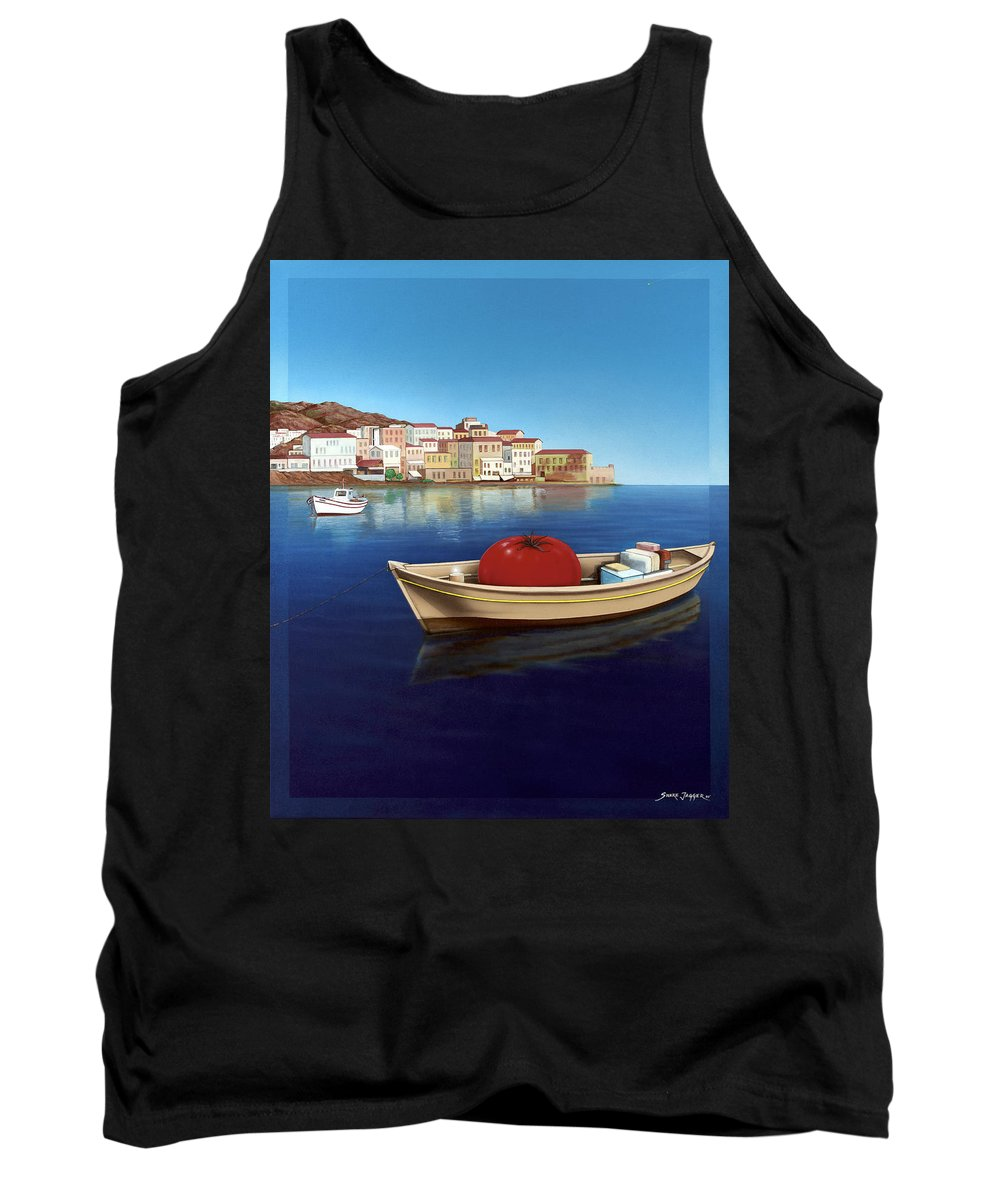 Mediterranean Tank Top featuring the painting Vine Ripened by Snake Jagger