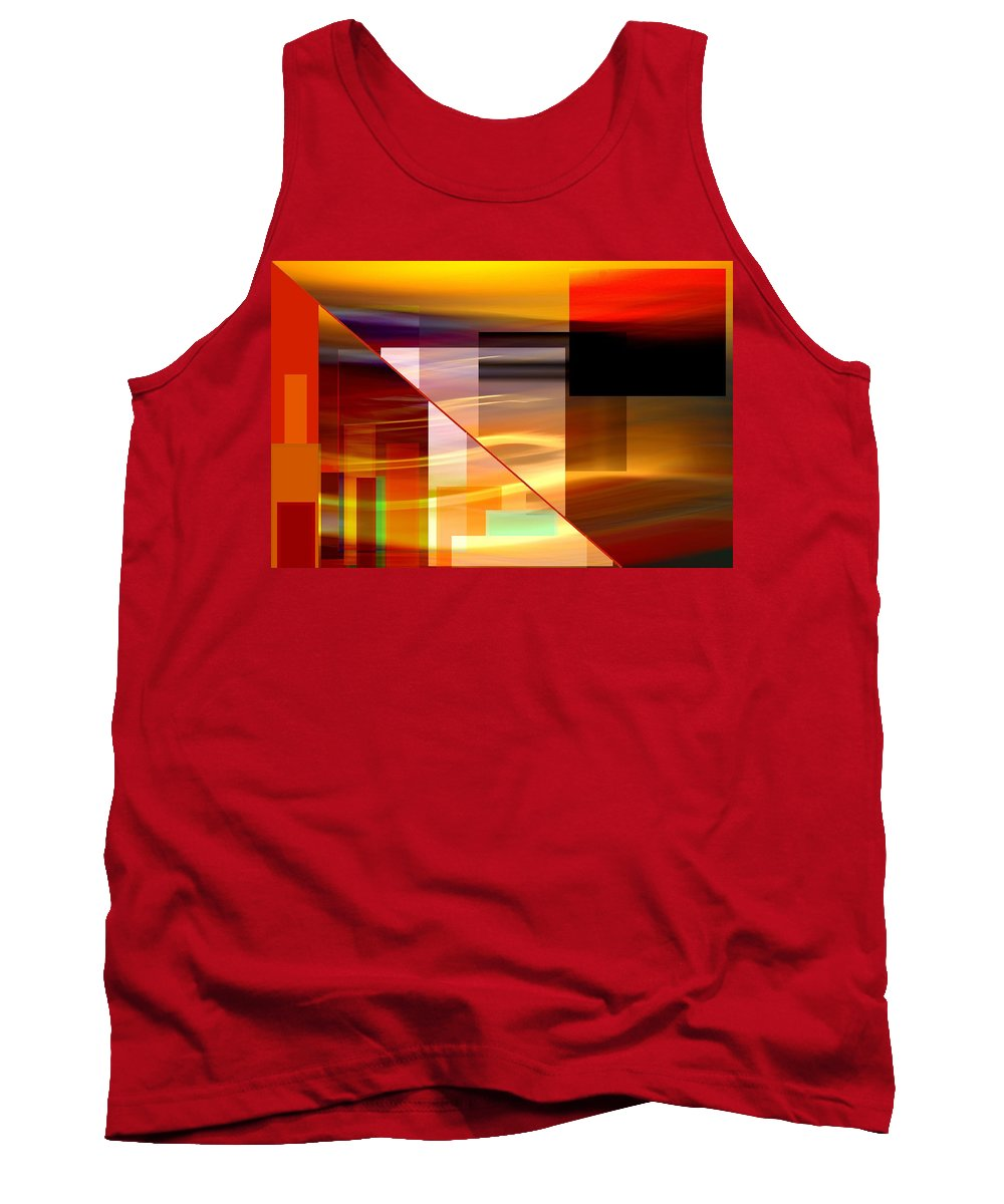 Tank Top featuring the mixed media Red Desert Cosmopolis by Terence Morrissey