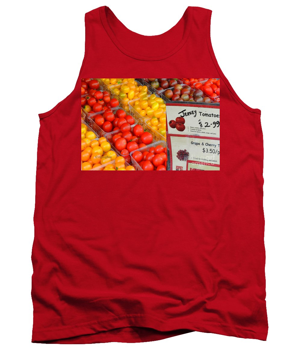 Grape Tomatoes Tank Top featuring the photograph Tomatoes Nj Special by Regina Geoghan