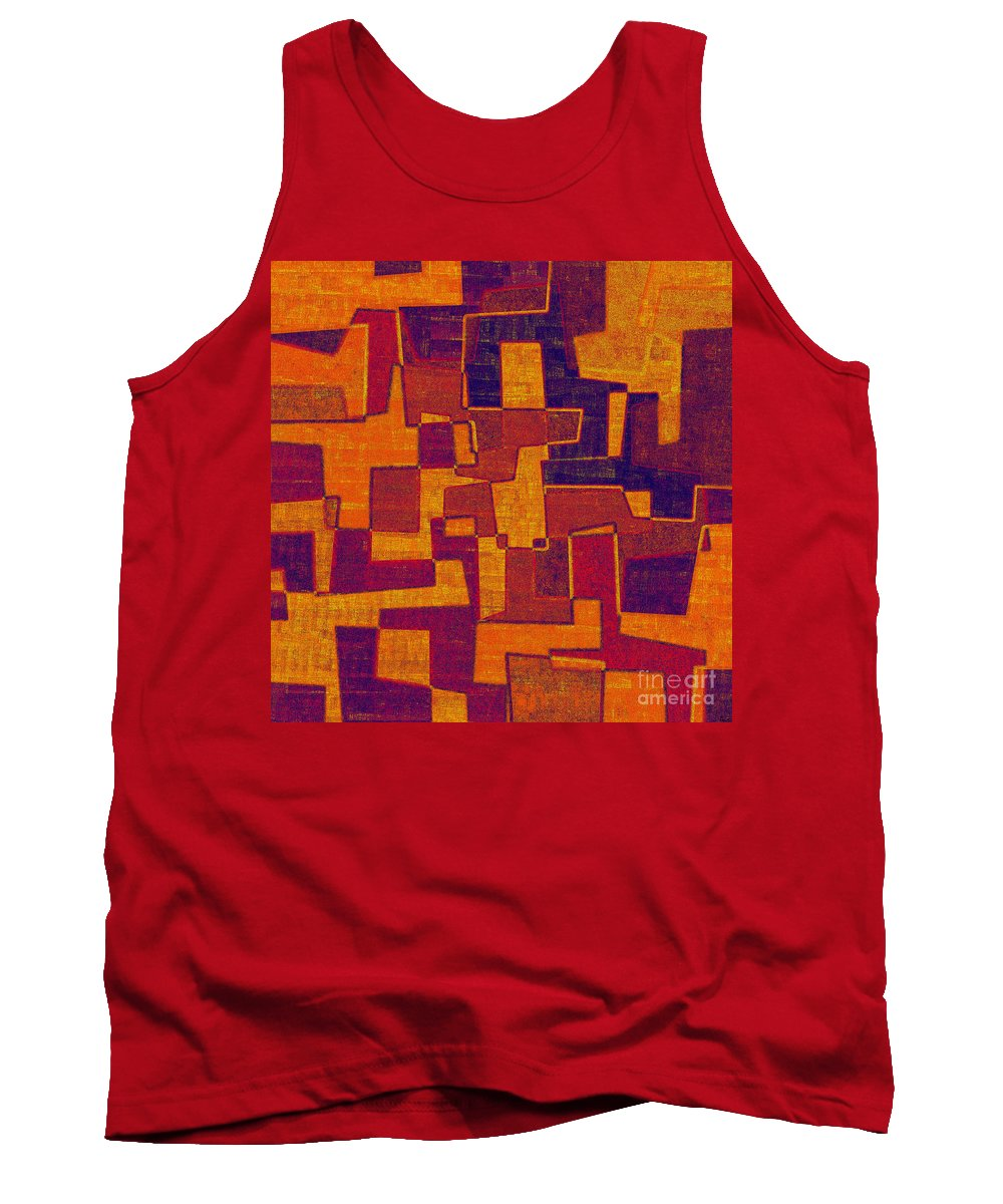 Abstract Tank Top featuring the digital art 0272 Abstract Thought by Chowdary V Arikatla