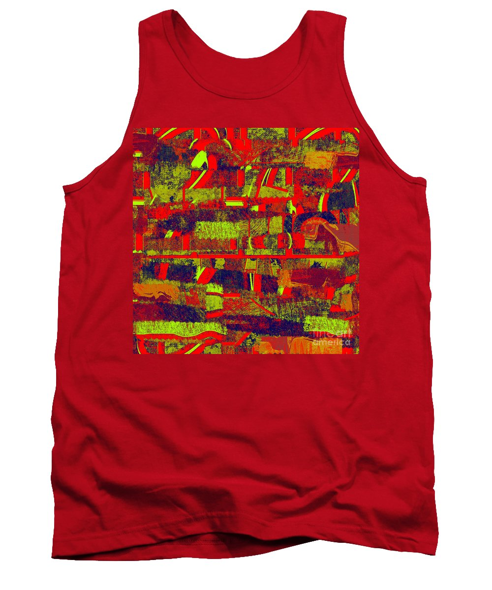 Abstract Tank Top featuring the digital art 0480 Abstract Thought by Chowdary V Arikatla