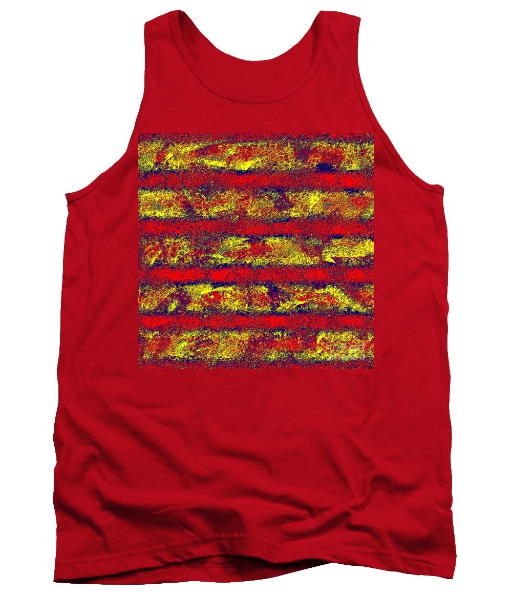 Abstract Tank Top featuring the digital art 0759 Abstract Thought by Chowdary V Arikatla