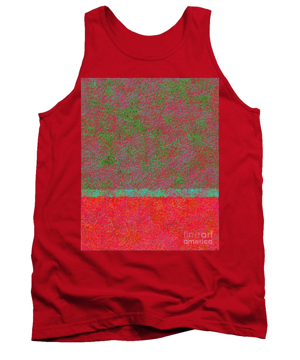 Abstract Tank Top featuring the digital art 0764 Abstract Thought by Chowdary V Arikatla