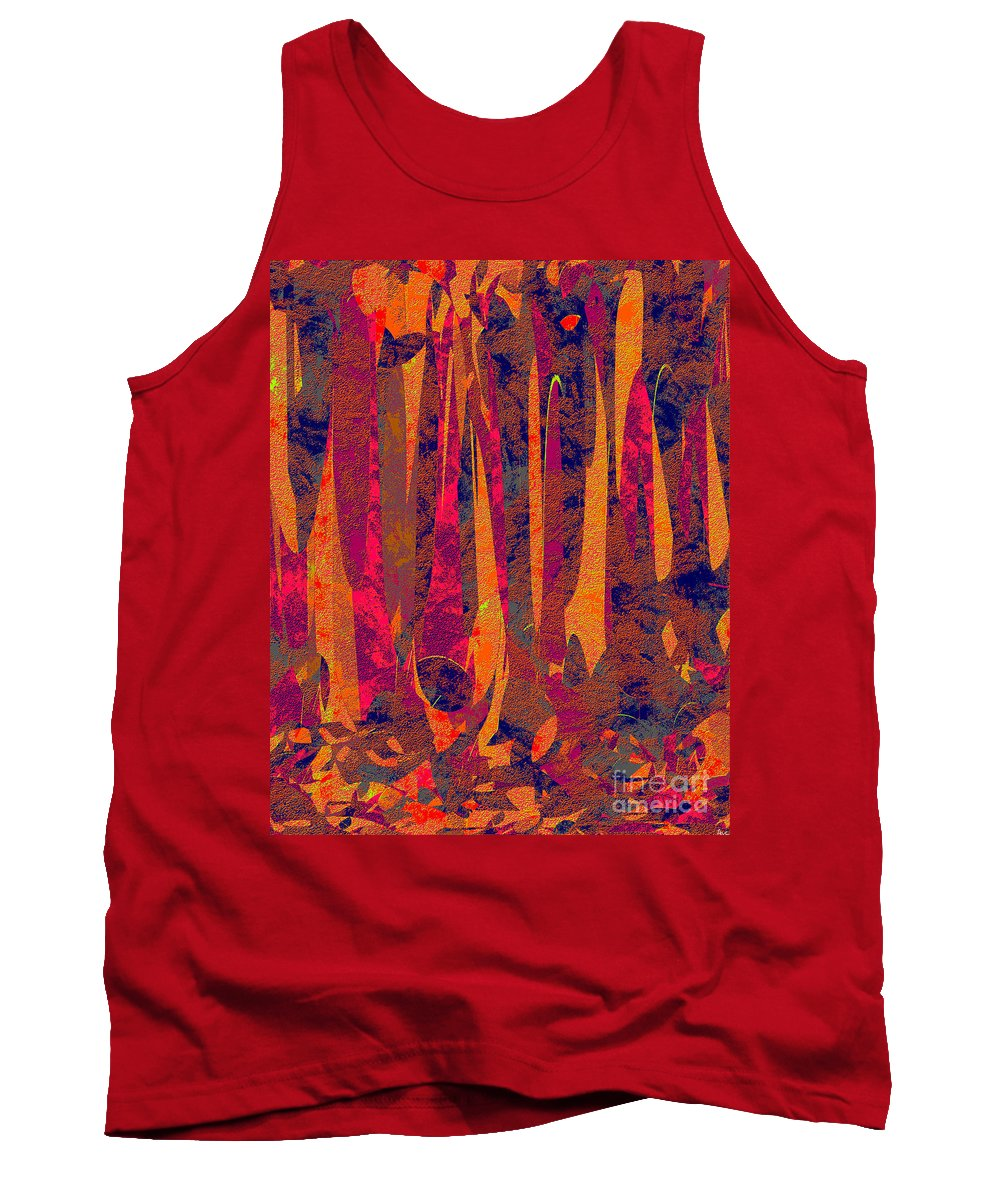 Abstract Tank Top featuring the digital art 0917 Abstract Thought by Chowdary V Arikatla