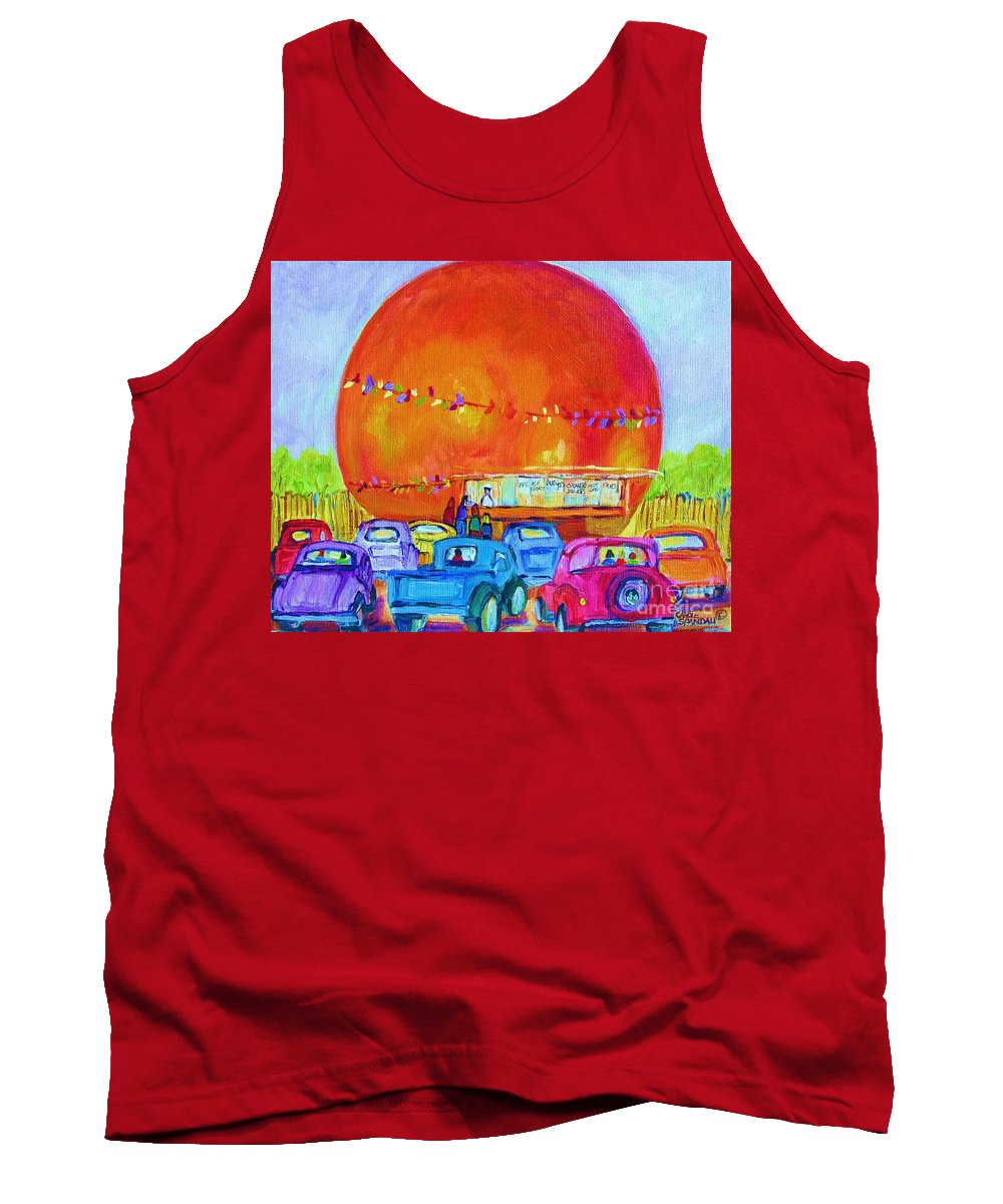 Cars Tank Top featuring the painting Antique Cars At The Julep by Carole Spandau
