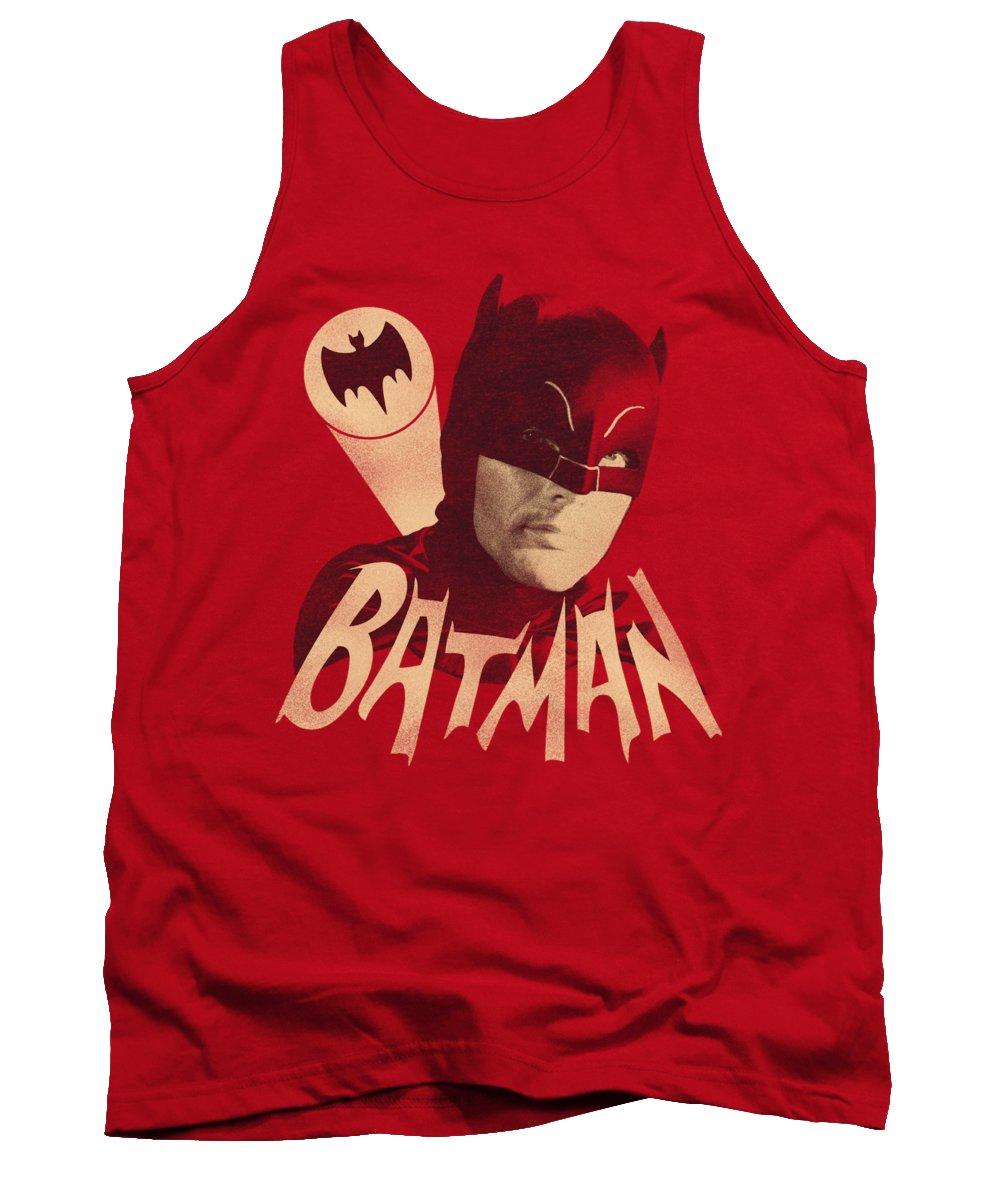 Batman Tank Top featuring the digital art Batman Classic Tv - Bat Signal by Brand A