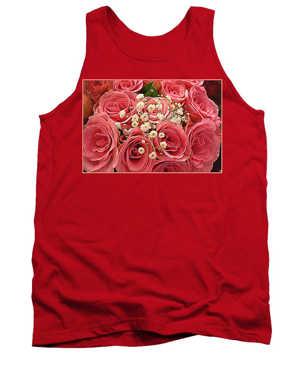 Roses Tank Top featuring the photograph Bouquet Of Pink Roses by Dora Sofia Caputo Photographic Design and Fine Art