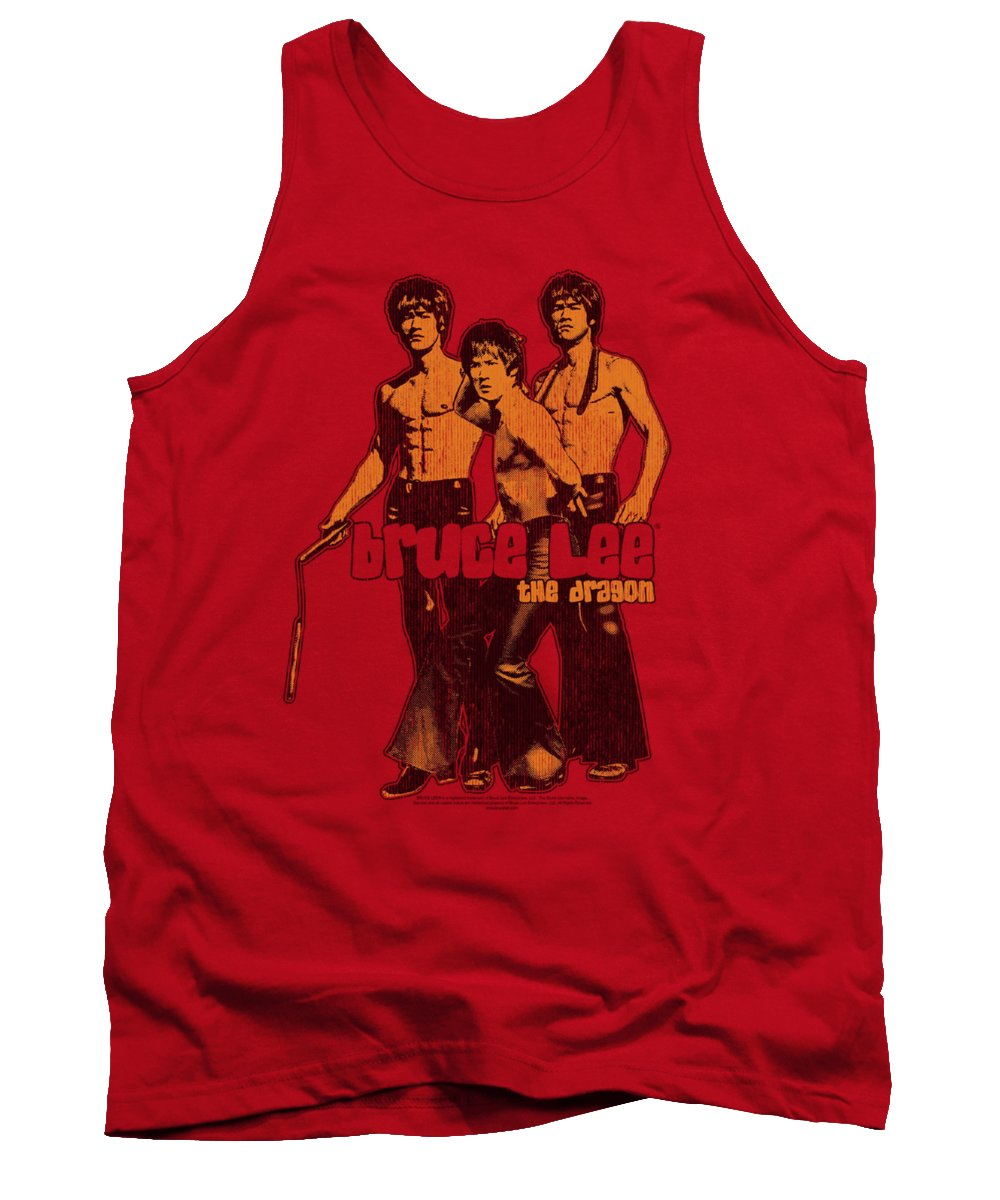 Bruce Lee Tank Top featuring the digital art Bruce Lee - Nunchucks by Brand A