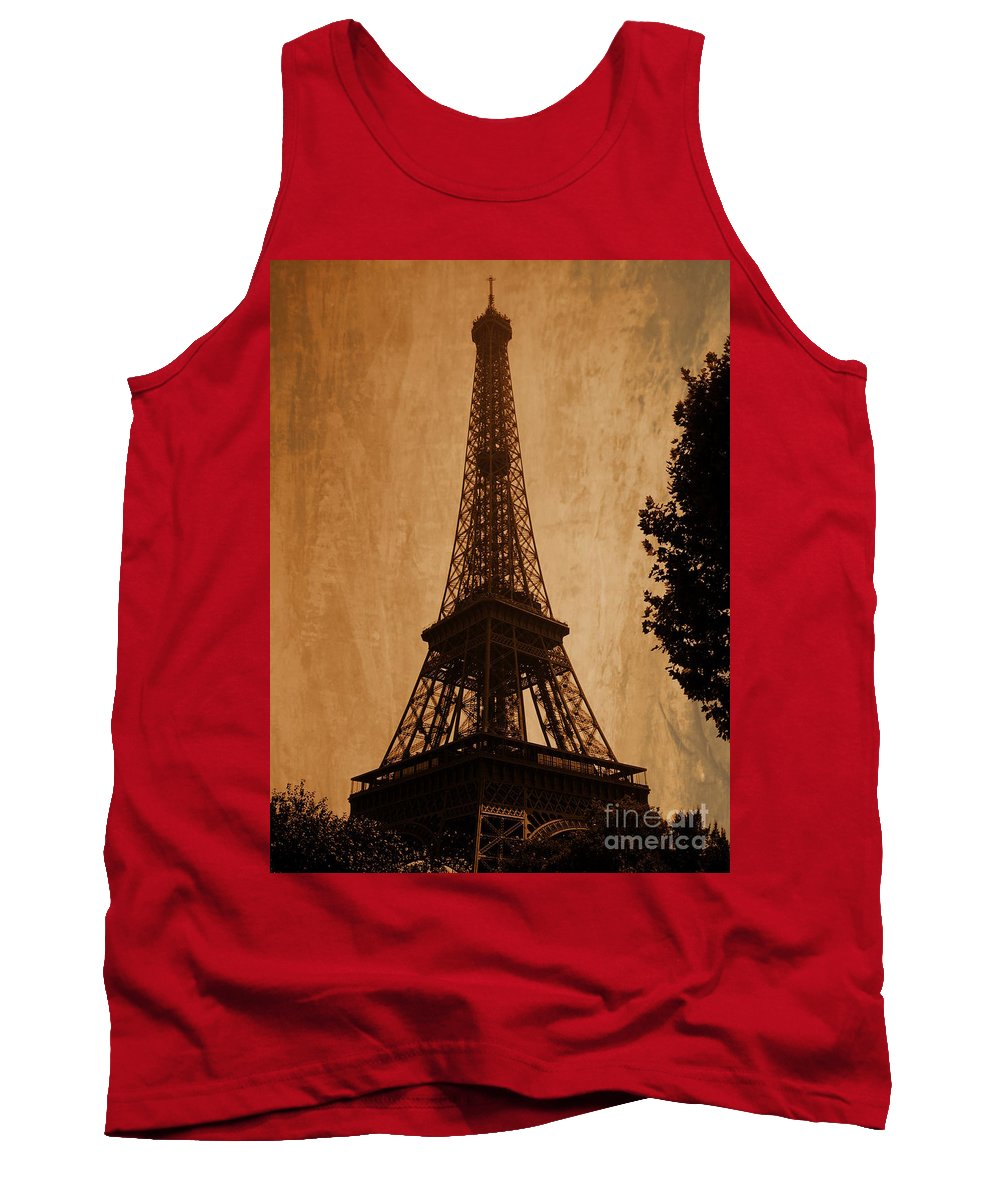 Paris Tank Top featuring the photograph Eiffel Tower by Andrea Anderegg