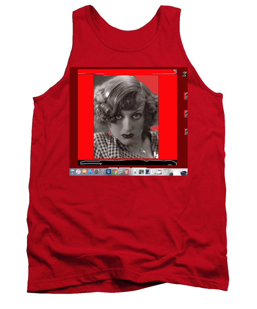 Film Homage Joan Crawford Louis Milestone Rain 1932 Collage Color Added Tank Top featuring the photograph Film Homage Joan Crawford Louis Milestone Rain 1932 Collage Color Added 2010 by David Lee Guss