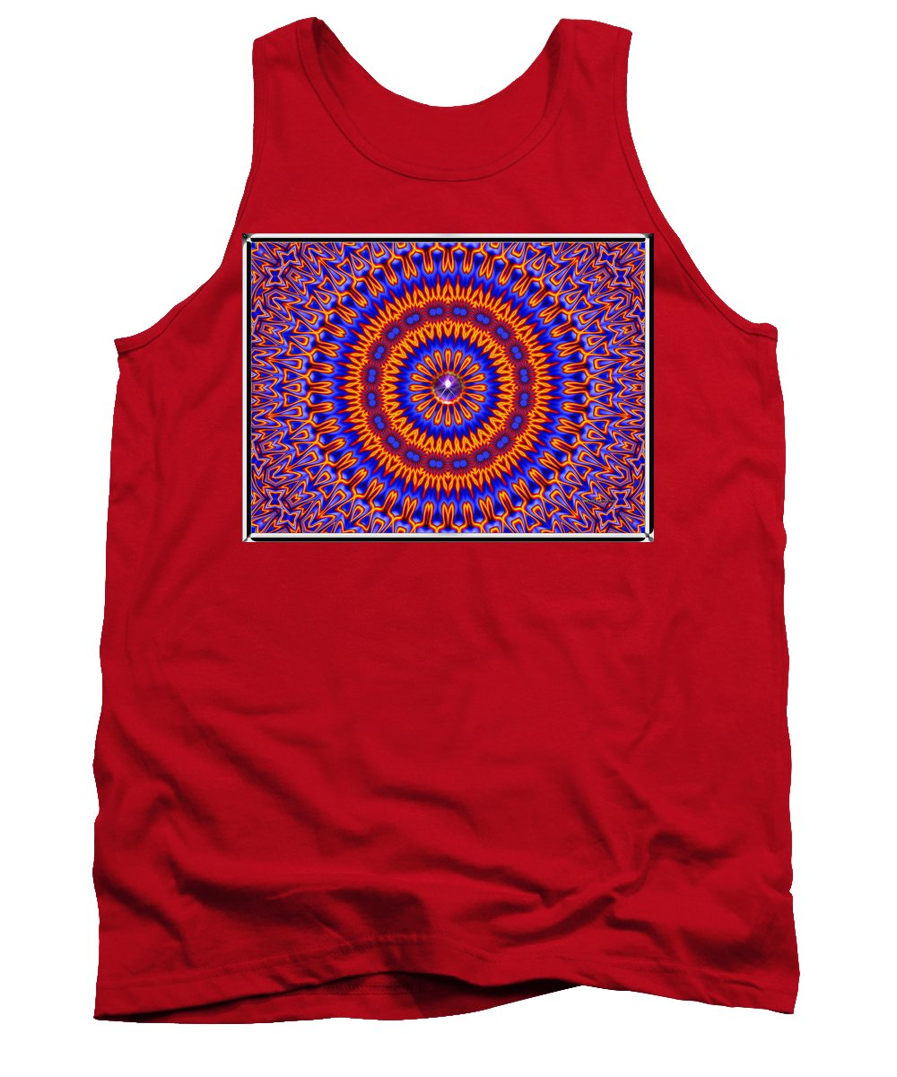 Colorful Tank Top featuring the digital art High Society- by Robert Orinski