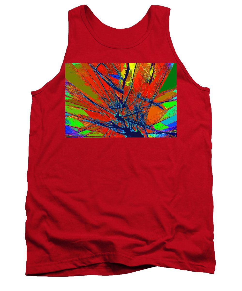 Abstract Tank Top featuring the painting Peacock by David Lee Thompson