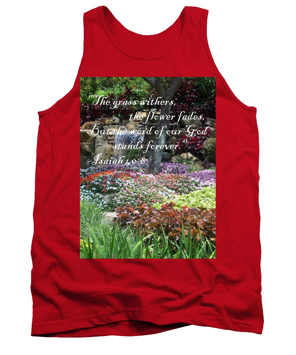 Inspirational Tank Top featuring the photograph Stands Forever by Pharris Art