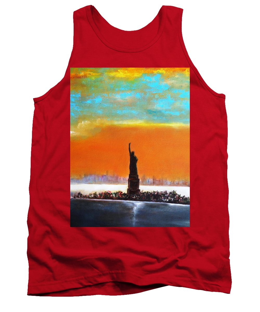 Paintings By Lyle Tank Top featuring the painting Statue Of Liberty by Lord Frederick Lyle Morris