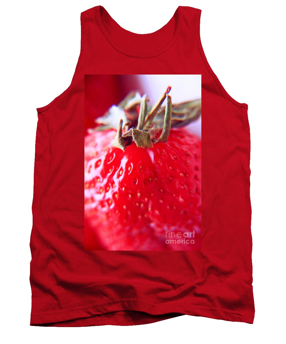 Strawberries Tank Top featuring the photograph Strawberries by Lali Kacharava