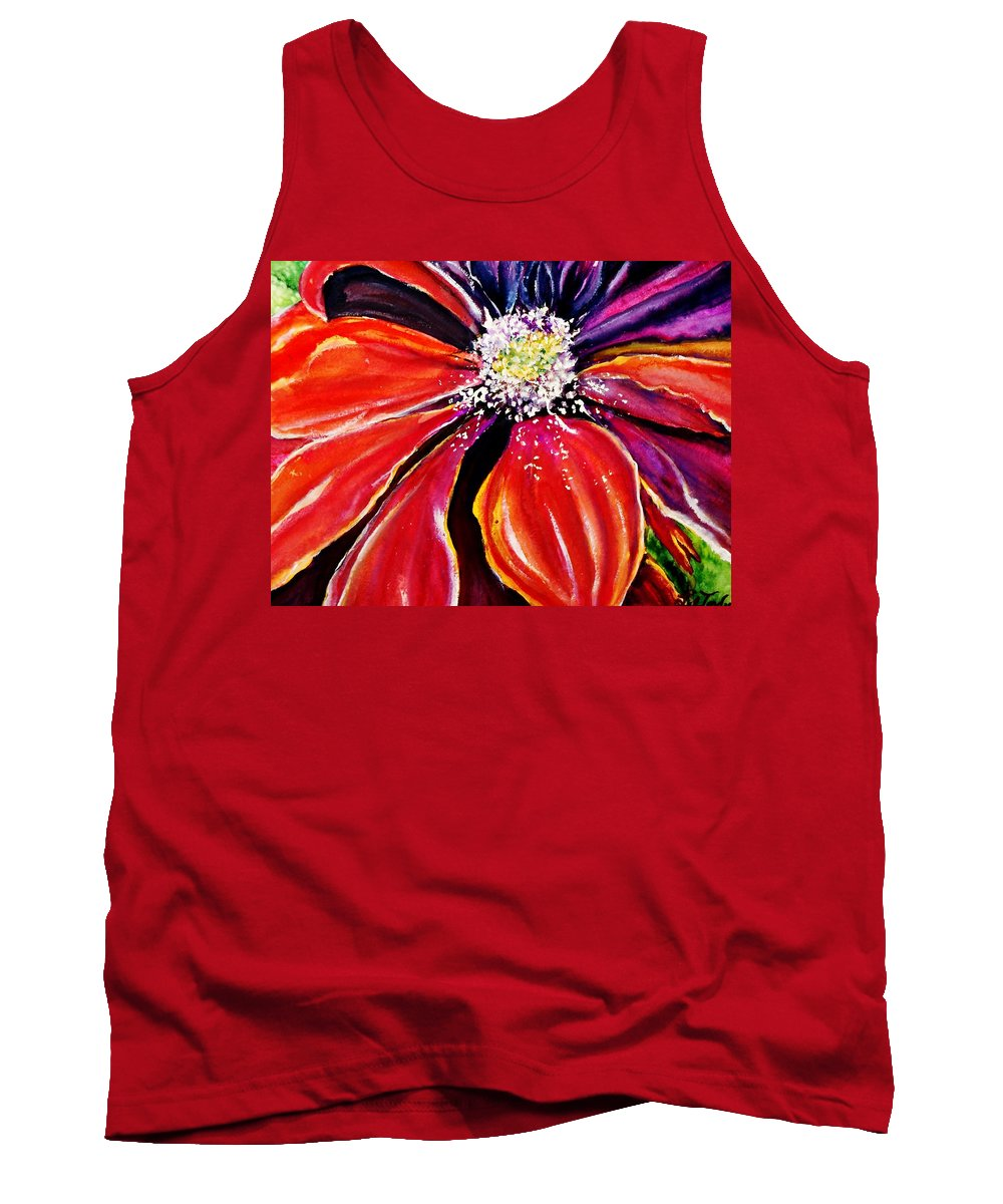 Flowers Tank Top featuring the painting Unfurled by Lil Taylor