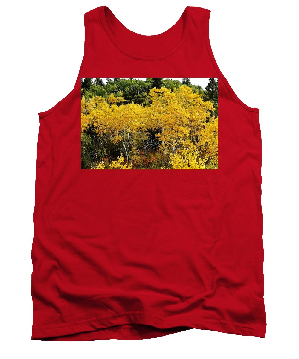 Tank Top featuring the photograph Yellow Trees by Randy Giesbrecht