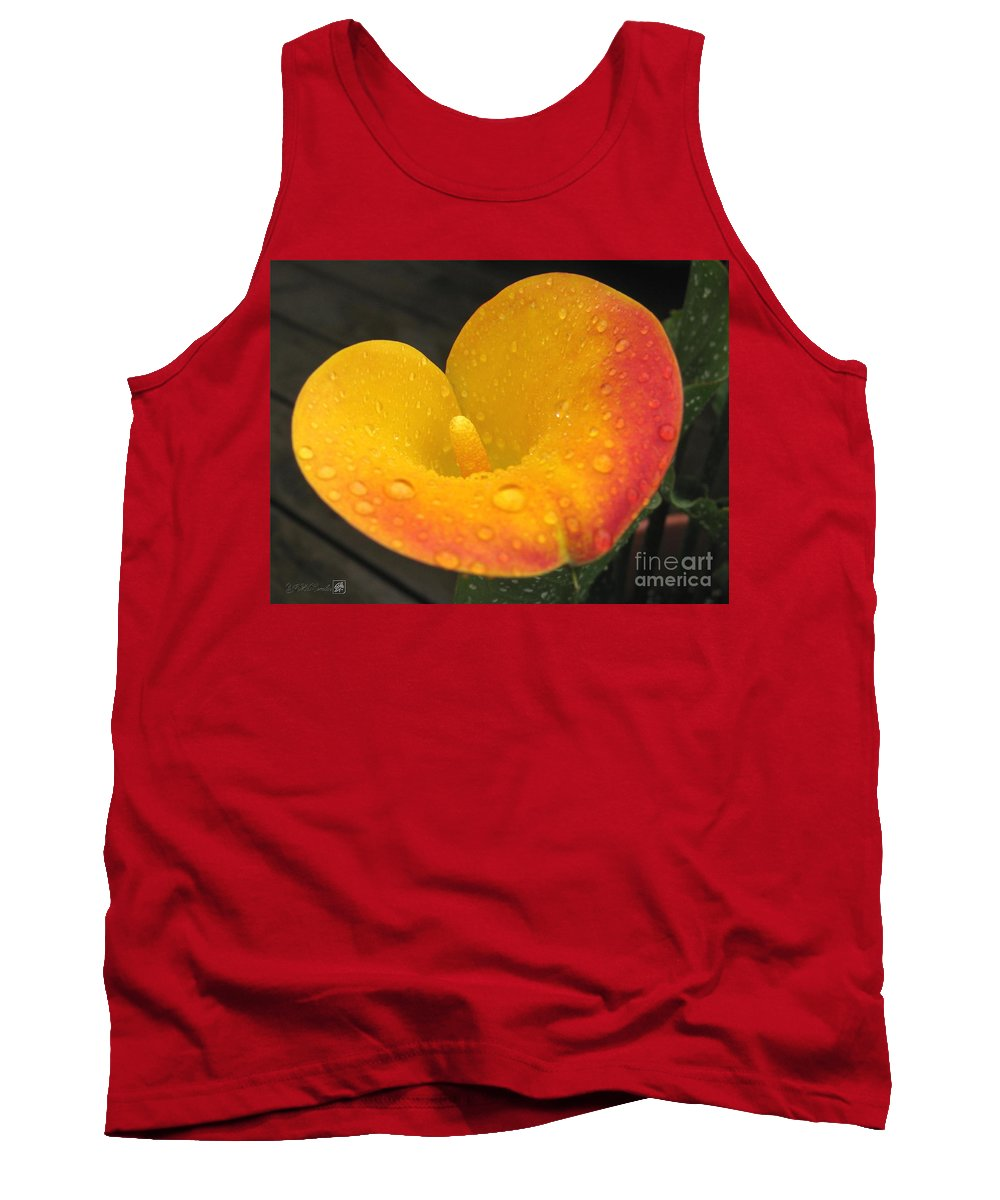 Zantedeschia Tank Top featuring the photograph Zantedeschia Named Flame by J McCombie