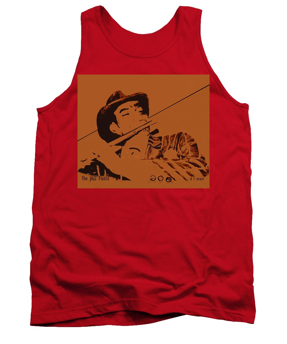 Tank Top featuring the painting The Jazz Flutist by Diane Strain