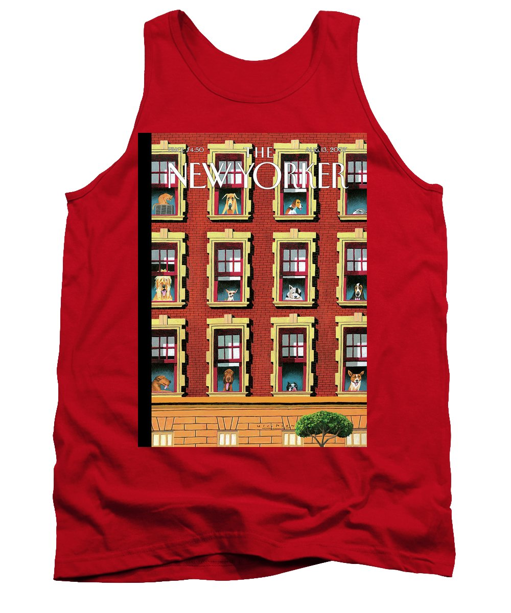 Hot Dogs Tank Top featuring the painting Hot Dogs by Mark Ulriksen