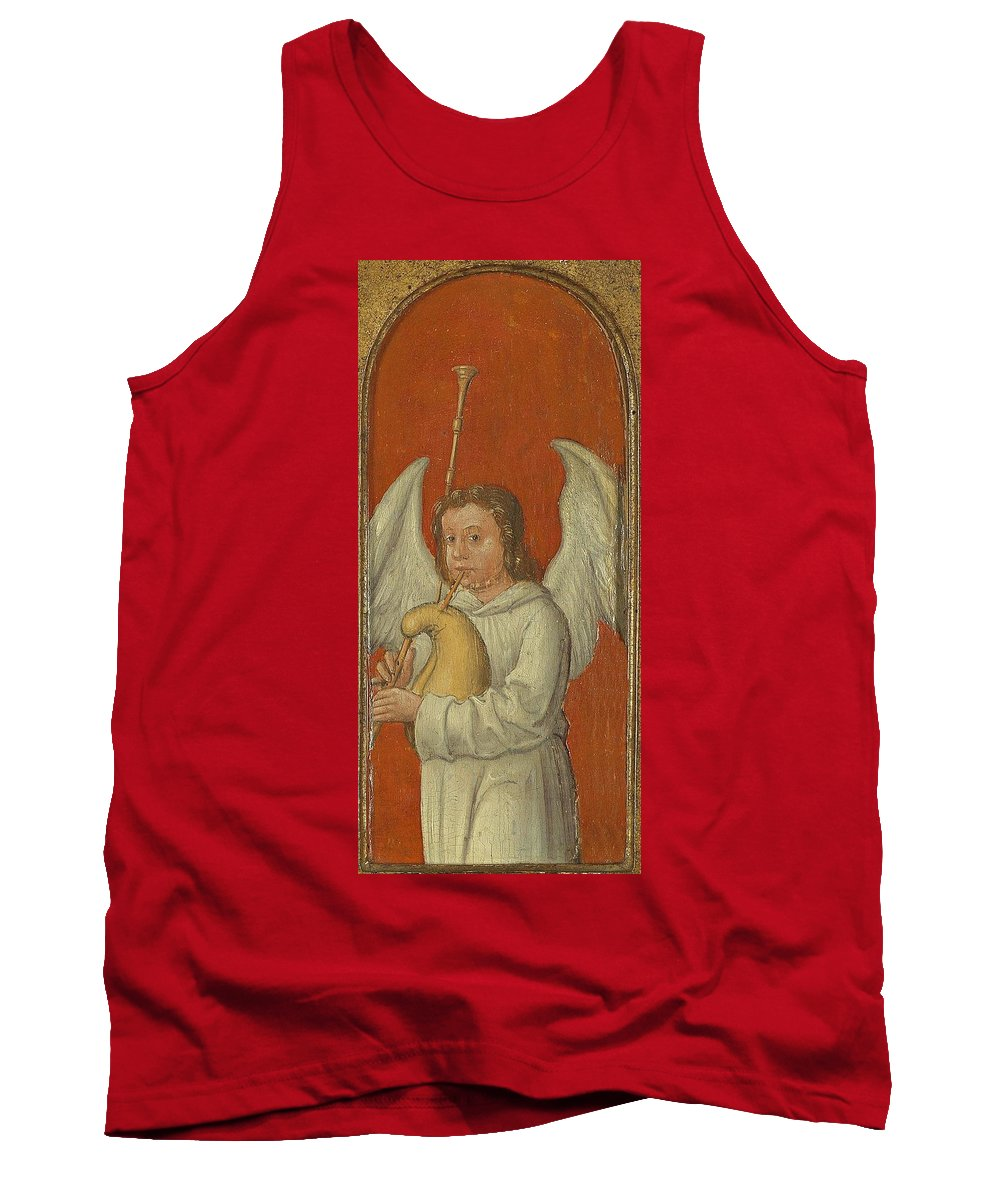 Angel Tank Top featuring the painting 15th Century Angel Painting 6 by Movie Poster Prints