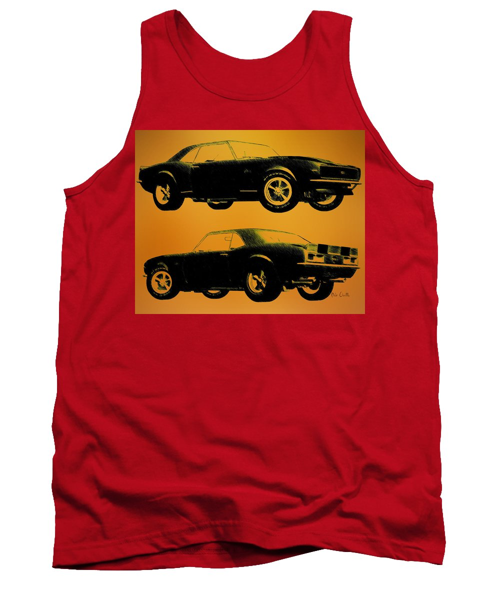 1968 Camaro Ss Tank Top featuring the drawing 1968 Camaro Ss Side View by Bob Orsillo