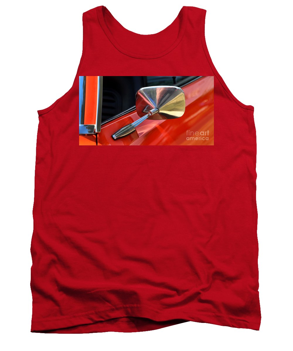 1969 Chevrolet Camaro Rs Tank Top featuring the photograph 1969 Chevrolet Camaro Rs - Orange - Side Mirror - 7588 by Gary Gingrich Galleries