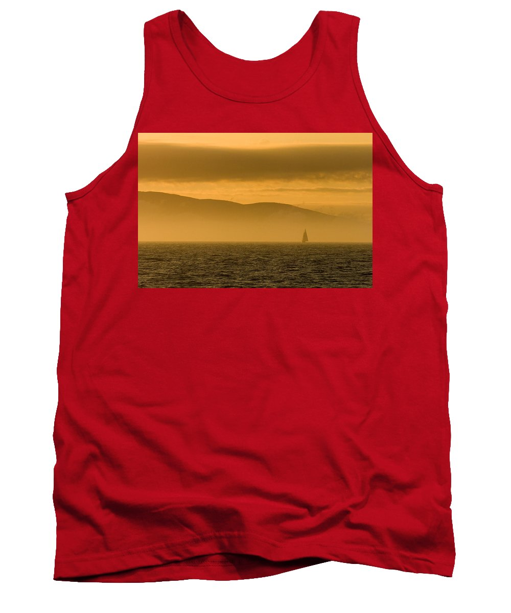 Sunset Tank Top featuring the photograph Acadia National Park Sunset by Sebastian Musial