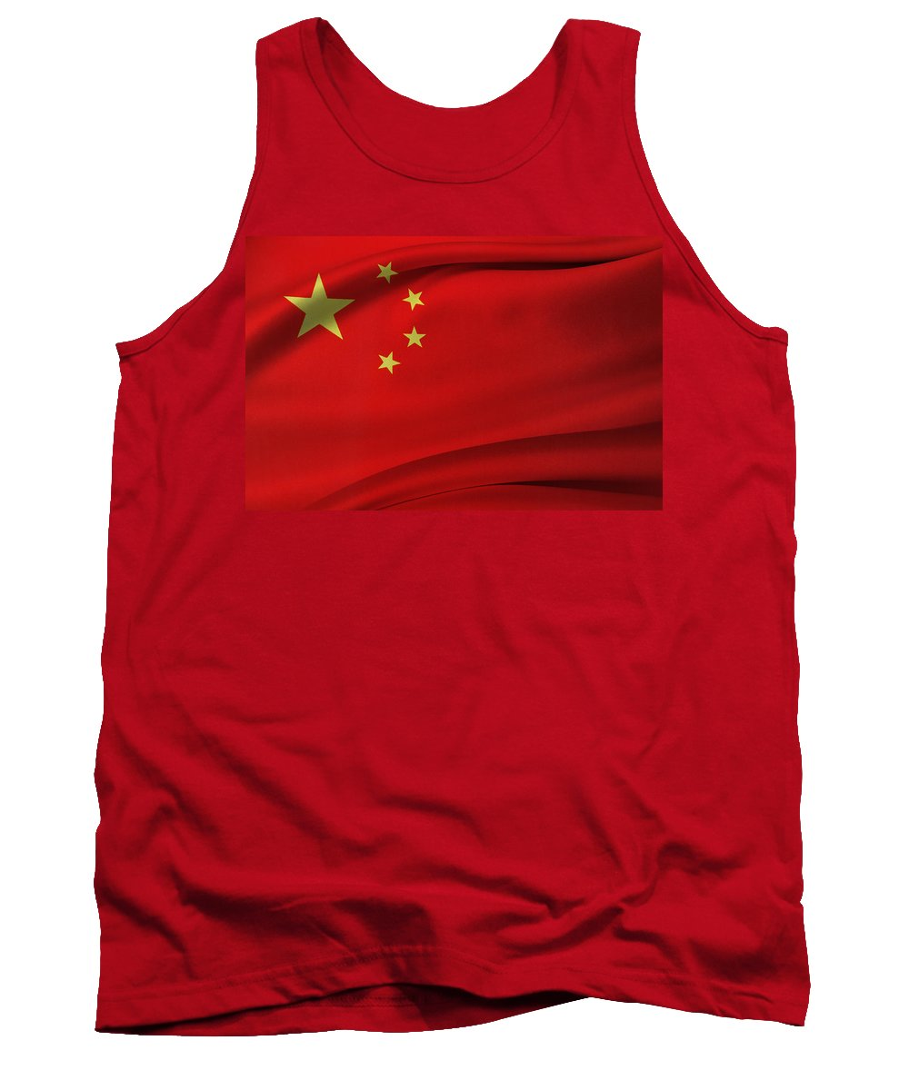 Banner Tank Top featuring the photograph Chinese Flag by Les Cunliffe