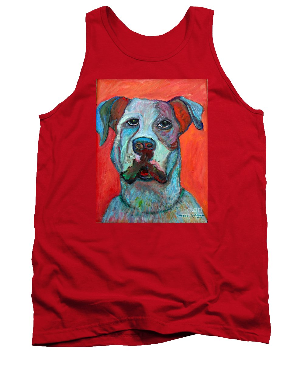 Dog Tank Top featuring the painting Fred by Marlene Robbins