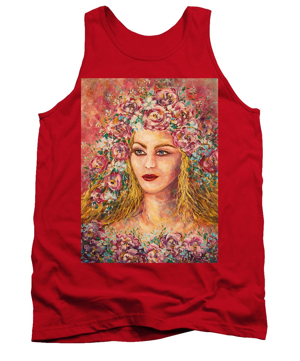 Goddess Tank Top featuring the painting Good Fortune Goddess by Natalie Holland