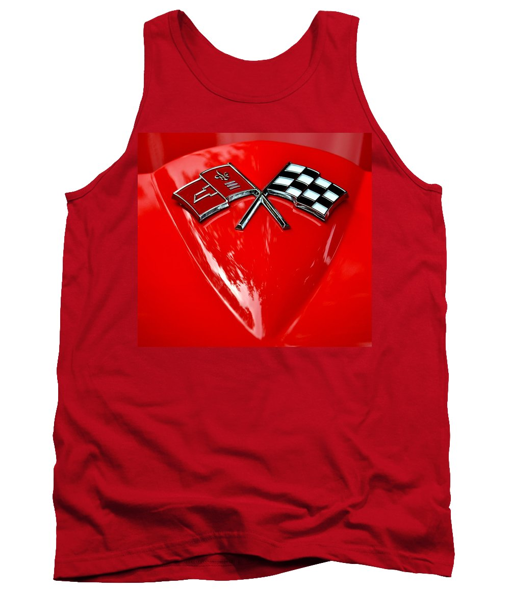 Tank Top featuring the photograph Little Red Corvette by Dean Ferreira