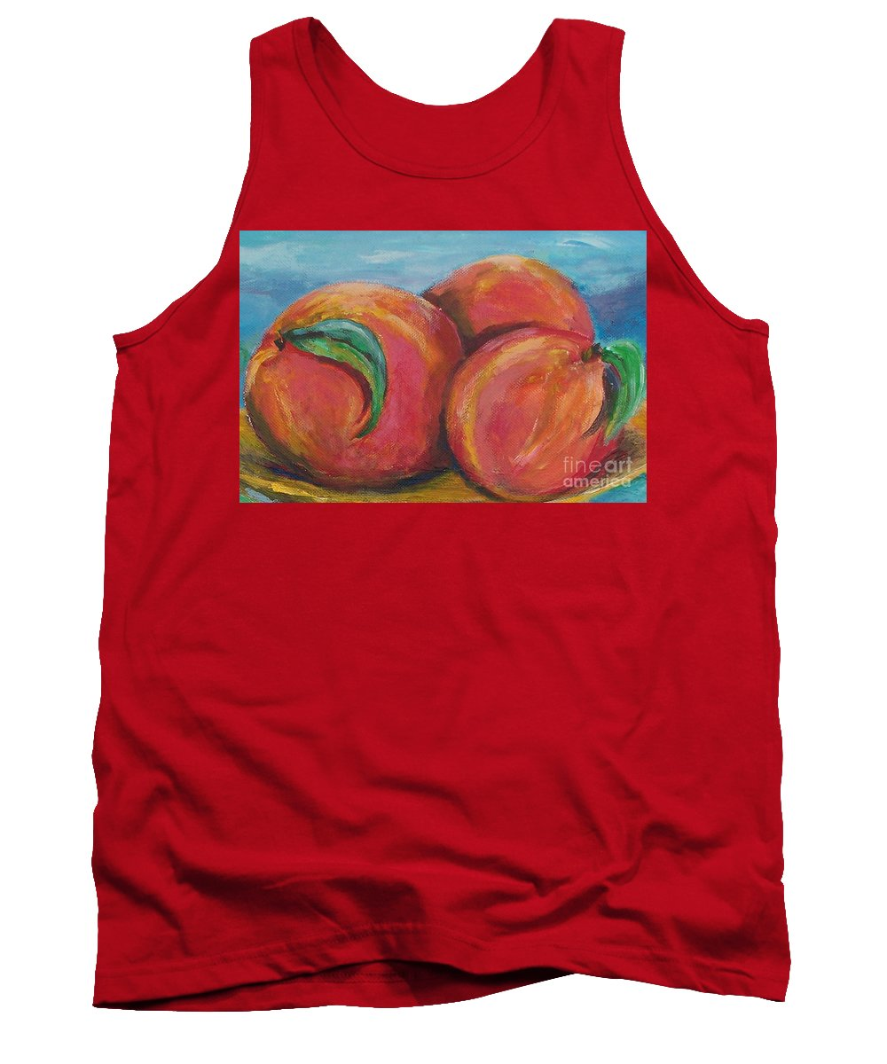Impressionism Tank Top featuring the painting Peaches by Eric Schiabor