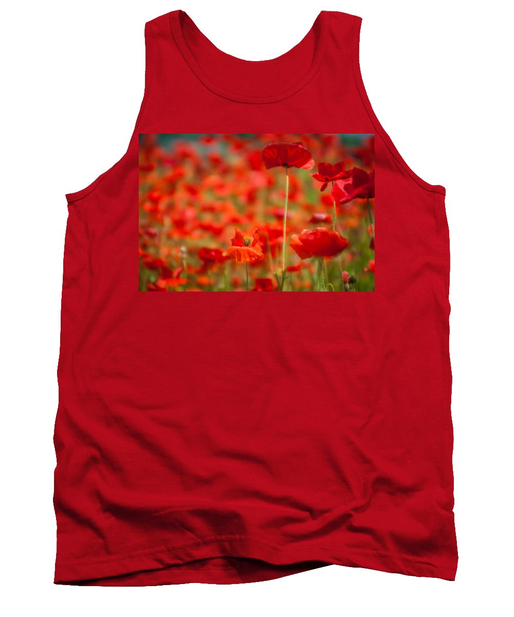 Agriculture Tank Top featuring the photograph Poppy Field  by Alex Grichenko