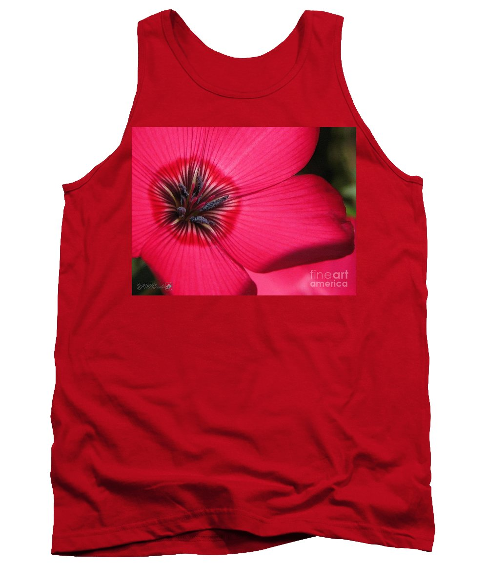Mccombie Tank Top featuring the painting Scarlet Flax by J McCombie
