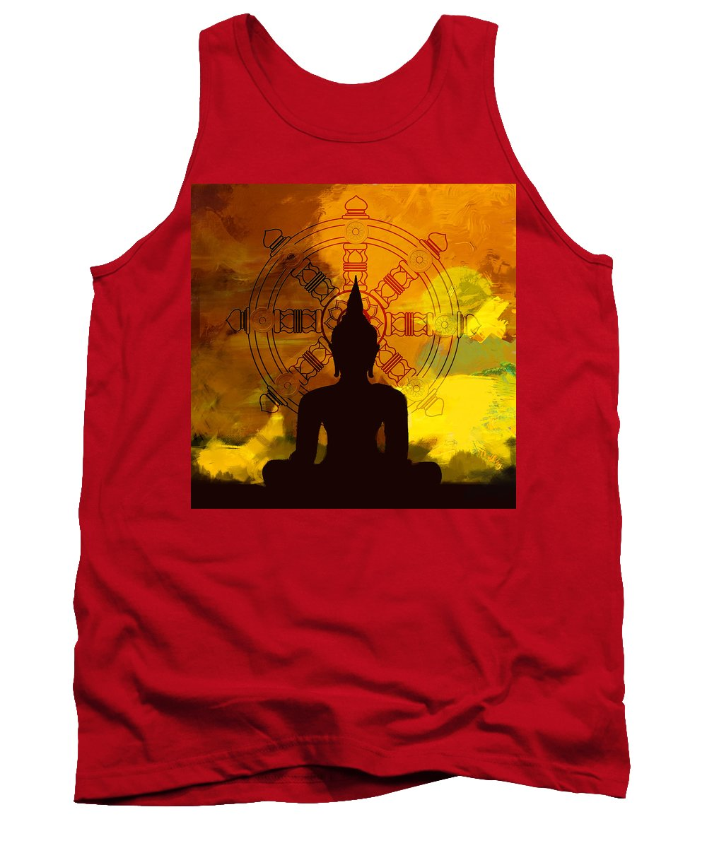 Buddha Art Paintings Tank Top featuring the painting South Asian Art by Corporate Art Task Force