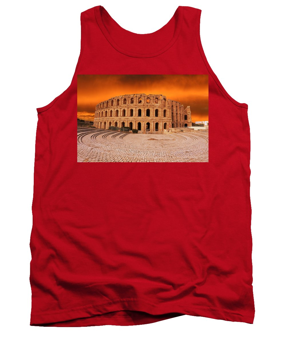 Colosseum Tank Top featuring the photograph Amphitheatre by Paul Fell